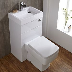 Integrated toilet and sink