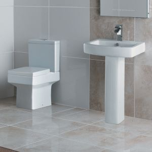 Kartell K-VIT Embrace Close Coupled Toilet with Soft Close Seat 2
