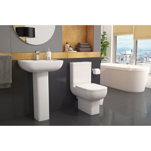Kartell K-VIT Options 600 Close to Wall Toilet with Soft Close Seat  1