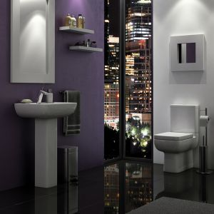 Kartell K-VIT Options 600 Close to Wall Toilet with Soft Close Seat  2