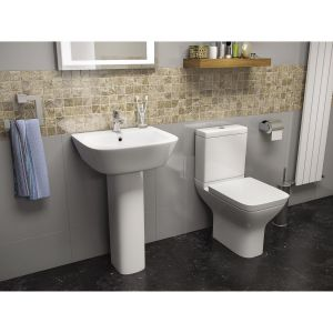 Kartell K-VIT Project Square Close Coupled Toilet with Soft Close Seat 1