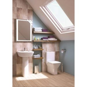 Kartell K-VIT Project Square Close Coupled Toilet with Soft Close Seat 2