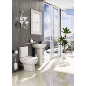 Kartell K-VIT Studio Close Coupled Toilet with Deluxe Soft Close Seat & Cover 1
