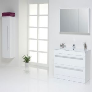 Kartell Purity White Cloakroom Vanity Unit Lifestyle