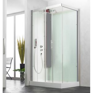Kinedo Horizon Thermostatic Corner Slider Self-Contained Shower Cubicle
