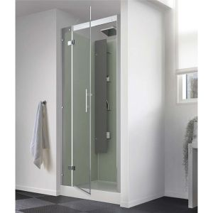 Kinedo Horizon Thermostatic Pivot Recess Self Contained Shower Cubicle