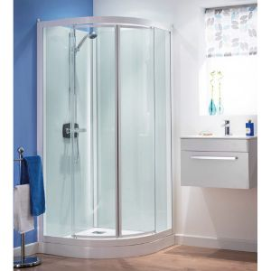 Kinedo Kineprime Glass Thermostatic Quadrant Slider Self-Contained Shower Cubicle