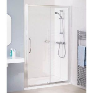 Lakes Silver Semi-Frameless Slider Door Shower Enclosure