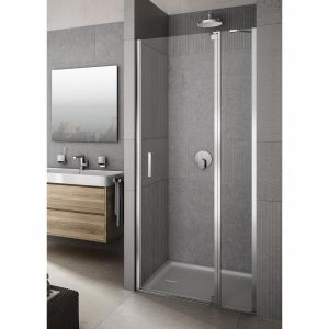 Lakes Vivere Semi-Framed Panel Hinged Pivot Door With In-Line Panel