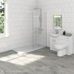 Madison Bathroom Furniture Pack with Nuie Wet Room Shower Enclosure