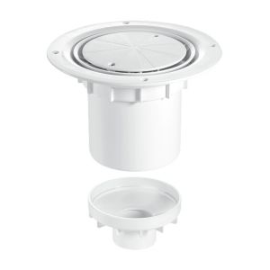 McAlpine TSG2WH 75mm Water Seal Trapped Gully White Plastic Clamp