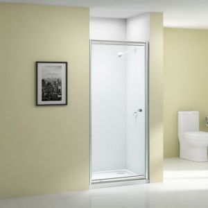 Merlyn Ionic Source Pivot Shower Door with Optional Side Panel