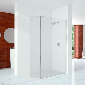 Merlyn Series 10 Showerwall Wetroom with Cube Panel