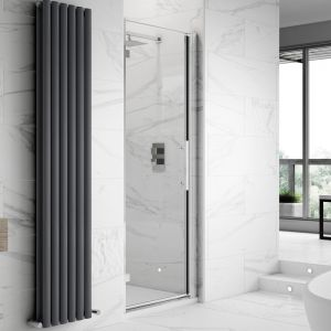 Hudson Reed Apex Hinged Shower Door with Optional Side Panel