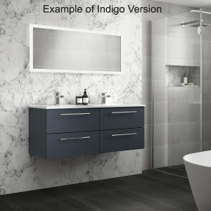 Mito Wall Hung Double Vanity Unit 1200mm Lifestyle