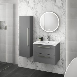 Mito Dove Grey Wall Hung Tall Unit 350mm Lifestyle