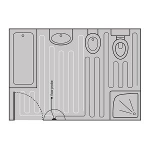 Warmup Dual Wire Undertile Heater Layout Diagram