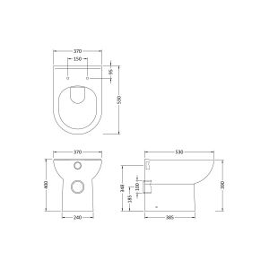 Nuie D Shaped Back To Wall Toilet Dimensions