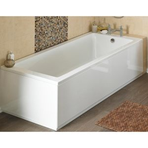 Nuie High Gloss White Front Bath Panel 1600mm Lifestyle