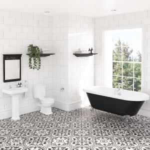 Nuie Legend Traditional Bathroom Suite with Freestanding Bath
