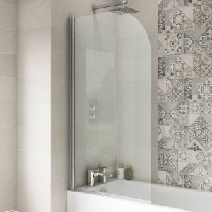 Nuie Straight Curved Edge Bath Screen