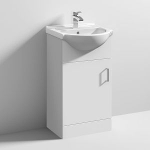 Nuie Mayford White Gloss Basin Unit 450mm 1