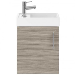 Nuie Vault Driftwood Wall Hung Single Door Vanity & Basin 400mm