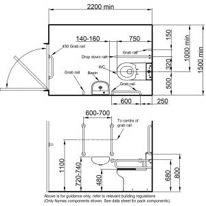 Nymas Close Coupled White Doc M Pack Drawing