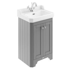 Old London Storm Grey Compact Vanity Unit 560mm