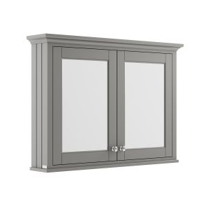 Old London Storm Grey Mirror Cabinet 1050mm