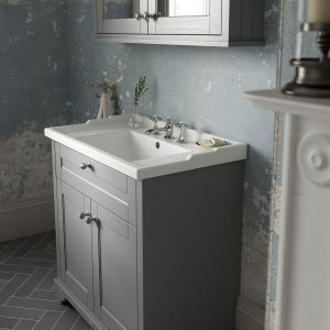 Old London Timeless Sand Compact Vanity Unit 595mm Lifestyle