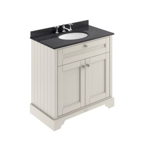 Old London Timeless Sand Vanity Unit with Black Marble Top 800mm