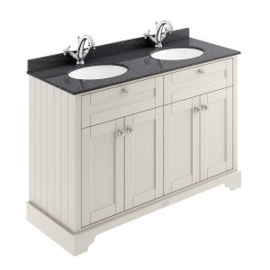 Old London Timeless Sand Vanity Unit with Black Marble Top 1200mm