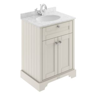 Old London Timeless Sand Vanity Unit with Marble Top 600mm