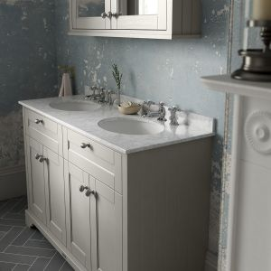 Old London Timeless Sand Vanity Unit with Marble Top 800mm Lifestyle