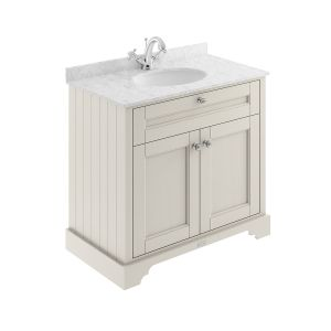 Old London Timeless Sand Vanity Unit with Marble Top 800mm