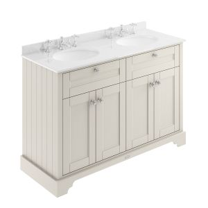 Old London Timeless Sand Vanity Unit with White Marble Top 1200mm