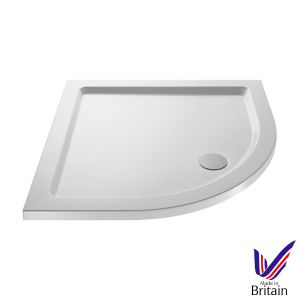 800 x 800 Shower Tray Quadrant Low Profile by Pearlstone