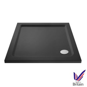 700 x 700 Shower Tray Slate Grey Square Low Profile by Pearlstone