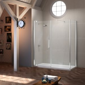 Merlyn Series 10 Pivot Door and Inline Panel with Optional Side Panel