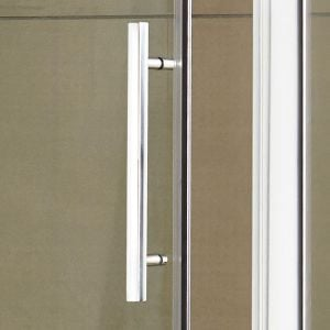 Hudson Reed Apex Hinged Shower Door with Optional Side Panel - Handle