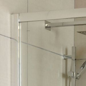 Hudson Reed Apex Single Sliding Door Shower Door with Optional Side Panel - Frame