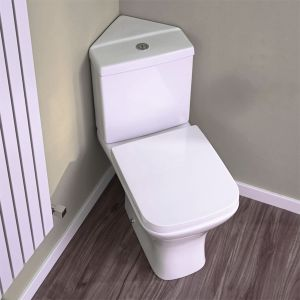 Premier Carmela Close Coupled Corner Toilet Lifestyle