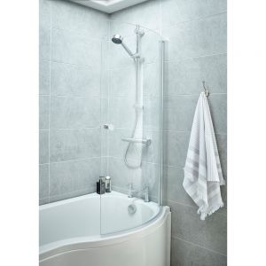 Premier Curved Bath Screen with Handle