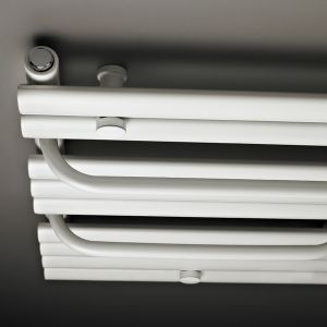Premier Heated White Designer Towel Rail Profile