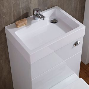 Toilet with Integrated Basin