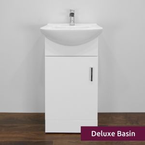 Premier High Gloss White Vanity Unit with Deluxe Basin 450mm