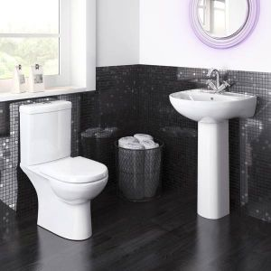 Premier Lawton Compact Close Coupled Toilet with Soft Close Seat Lifestyle