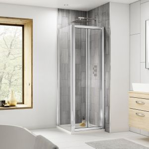 Nuie Pacific Bi-Fold Shower Door with Optional Side Panel