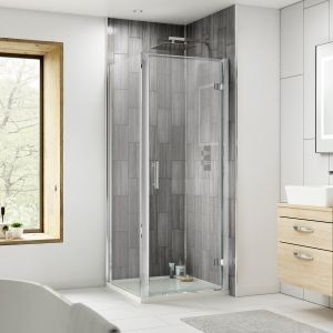 Nuie Pacific Hinged Shower Door with Optional Side Panel